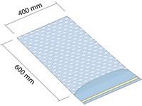 Sáčok z bublinkovej fólie 400x600 mm so samolepiacou 50mm klopou