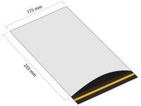 Samolepiaca plastová obálka 175x255 mm s klopou (balenie 100 ks)