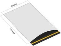 Samolepiaca plastová obálka 350x450 mm s klopou (balenie 100 ks)